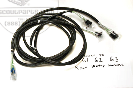 878391r91 scout 80 rear wiring harness 1961 63 portland rh portlandwiringharness com 1979 scout ii wiring harness international scout 800 wiring harness