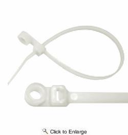 11 50 lbs #10 Mount Hole Nylon Tie Wrap 50 PIECES