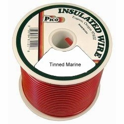 12 AWG Red Tinned Marine Wire 100 FT