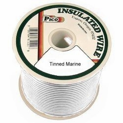 16 AWG White Tinned Marine Wire 100 FT